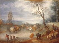 Jan Brueghel d.Ae., Landschaft mit Windm von AKG  Images