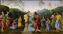 Perugino, Taufe Christi von AKG  Images