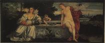 Tizian, Himmlische und Irdische Liebe by AKG  Images