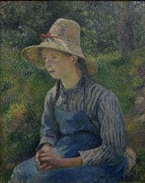 C.Pissarro, Bauernmaedchen mit Strohhut by AKG  Images