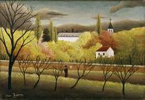 H.Rousseau, Landschaft mit Bauer von AKG  Images
