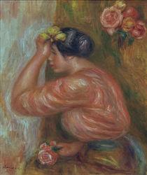 A.Renoir, Maedchen mit Rosen vor Spiegel von AKG  Images