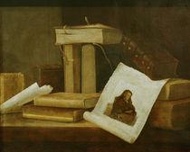 S.Stosskopf, Buecher und Rembrandt-Rad. by AKG  Images