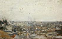 V.van Gogh, Blick auf Paris vom Montm. by AKG  Images