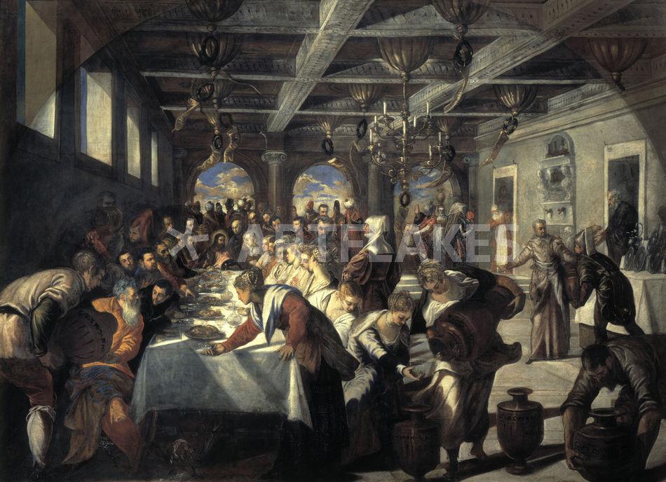 Tintoretto Hochzeit Zu Kana Bild Als Poster Und Kunstdruck Von Akg