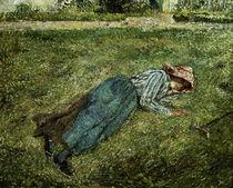 C.Pissarro, Liegendes Maedchen.. by AKG  Images