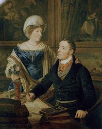 F.G.Waldmueller, Karthograph mit Frau von AKG  Images
