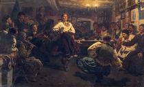 Repin/ Gemuetlicher Dorfabend/ 1881 von AKG  Images