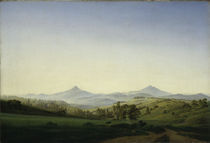 C.D.Friedrich,Boehm.Landschaft Millesch. by AKG  Images