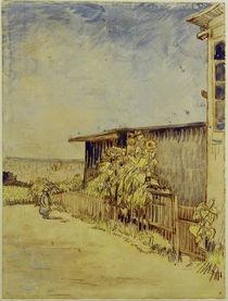 V.v.Gogh, Schuppen mit Sonnenblumen von AKG  Images