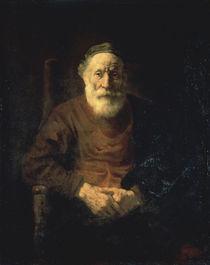 Rembrandt, Alter Mann in rotem Gewand von AKG  Images