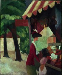 August Macke, Vor dem Hutladen by AKG  Images