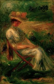 A.Renoir, Sitzende Frau im Garten von AKG  Images