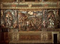 Kaiser Konstantin erscheint Kreuz/Romano von AKG  Images