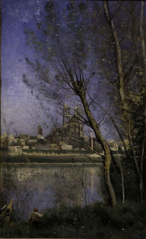 C.Corot, Kathedrale in Mantes von AKG  Images
