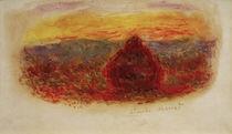 C.Monet, Heuhaufen bei Sonnenuntergang von AKG  Images