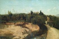 Camille Corot, Landschaft in Italien von AKG  Images