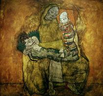 Egon Schiele, Mutter mit zwei Kindern von AKG  Images
