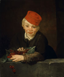 E.Manet, Knabe mit Kirschen von AKG  Images
