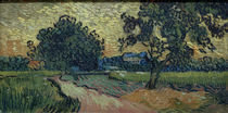 V.v.Gogh, Zwei Birnbaeume u.das Schloss... von AKG  Images