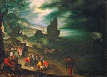 J.Brueghel d.Ae., Kuestenlandschaft m.Jona von AKG  Images