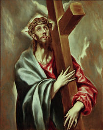 El Greco, Kreuztragender Christus by AKG  Images