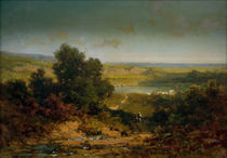 C.Spitzweg, Landschaft mit Dorf u.Fluss von AKG  Images