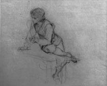 L.Knaus, Studie eines sitzenden Jungen by AKG  Images