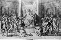 N.Poussin, Urteil Salomos (Zeichnung) von AKG  Images