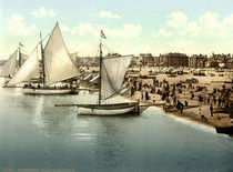 Yarmouth, Strand / Photochrom von AKG  Images