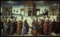 Perugino, Schluesseluebergabe an Petrus von AKG  Images