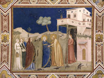 Giotto, Heimsuchung / Assisi von AKG  Images