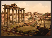 Rom, Forum Romanum, Saturntempel / Foto by AKG  Images