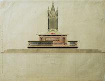 C.D.Friedrich, Altarentwurf mit Aedikula von AKG  Images