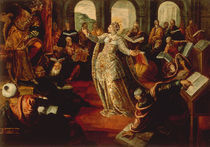 Tintoretto, Hl.Katharina & Philosophen von AKG  Images