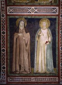 Giottoschule, Hl.Klara und Elisabeth von AKG  Images