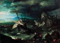 J.Brueghel d.Ae., Seesturm mit Schiffbr. von AKG  Images