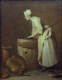 J.B.S.Chardin, Die Kesselputzerin by AKG  Images