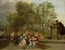 A.Watteau, Belustigung im Freien by AKG  Images