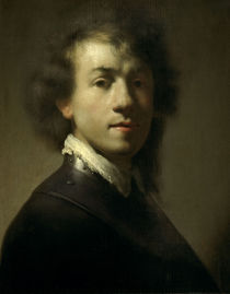 Rembrandt, Selbstbildnis als Krieger von AKG  Images