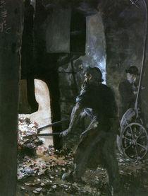 A.v.Menzel, Am Dampfhammer by AKG  Images