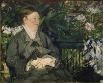 E.Manet, Madame Manet im Wintergarten von AKG  Images