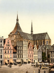 Rostock, Marienkirche / Photochrom by AKG  Images