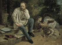 G.Courbet, Proudhon u. seine Kinder by AKG  Images