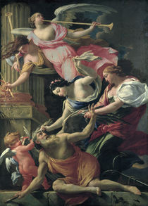 S.Vouet, Amor,Venus besiegen Saturn by AKG  Images