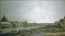 Dresden vom recht.Elbufer / Bellotto von AKG  Images