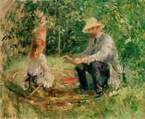 B.Morisot, Eugene Manet und Tochter von AKG  Images