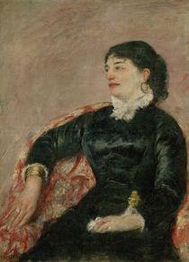 M.Cassatt, Portraet italienische Dame by AKG  Images