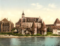 Marienburg von Nordwesten / Photochrom von AKG  Images
