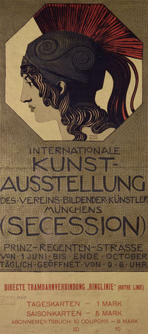 F.v.Stuck / Plakat Int. Kunstausstellung by AKG  Images
